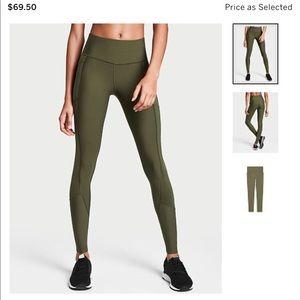 Victoria Secret Knockout Leggings NEW olive green